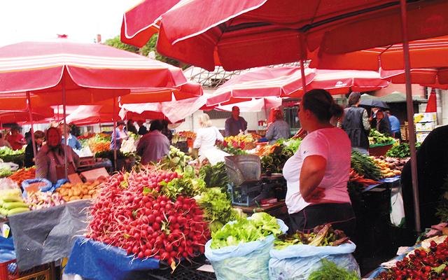 Open air market, Zagreb, Croatia. Photo by Carla Waldemar