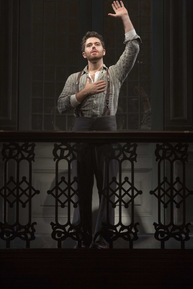 Josh Young as Che in the national tour of Evita. Photo by Richard Termine