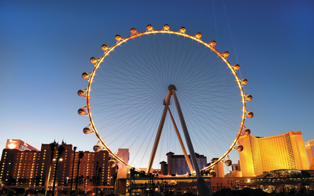 High Roller Experience at dusk. Photo courtesy of Las Vegas News Bureau