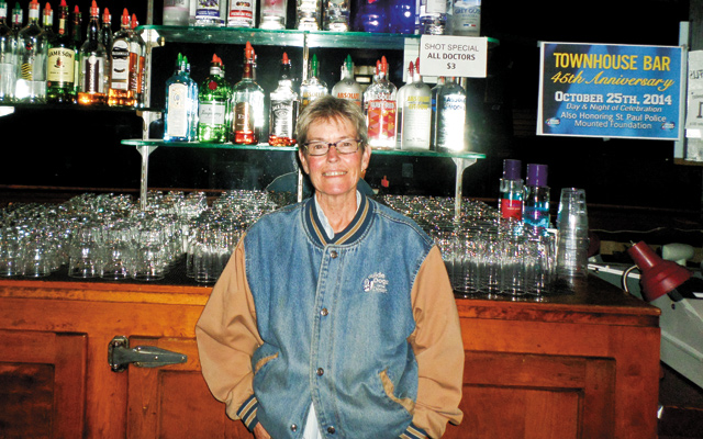The Town House owner Holly Monnett at the beautiful main bar. Photo by George Holdgrafer