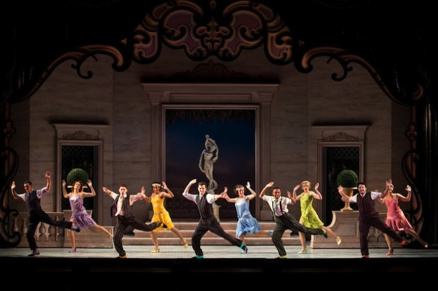 """The Nice Work If You Can Get It national tour ensemble performs """"Lady Be Good. Photo by Jeremy Daniel"""
