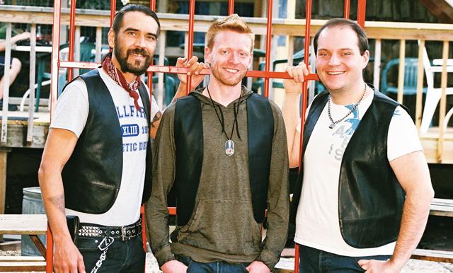Twin Cities Leather & Latté: Karri Plowman, Tynan Fox, Luke Wallrich. Photo by Sophia Hantzes