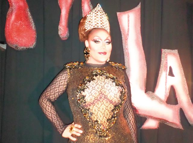 Prada Diamond, the reigning Miss Gay 90's. Photo by George Holdgrafer