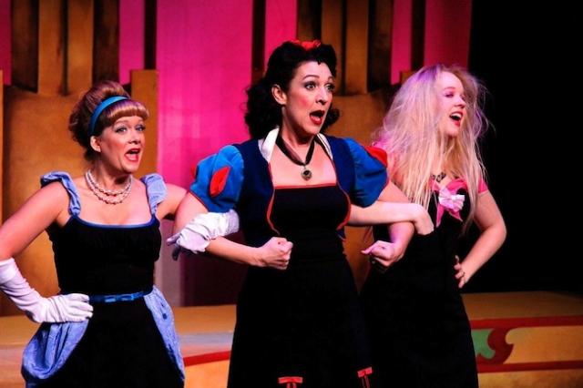 Bonni Allen (Cinderella), Jen Burleigh-Bentz (Snow White), and Katherine Tieben-Holt (Sleeping Beauty Photo by James Detmar