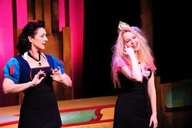 Jen Burleigh-Bentz (Snow White), and Katherine Tieben-Holt (Sleeping Beauty) Photo by James Detmar