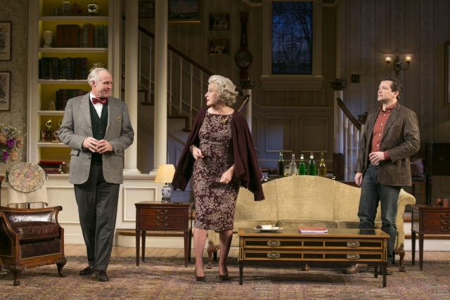 Peter Thomson (Bradley), Kandis Chappell (Ann) and Rod Brogan (John) in the Guthrie Theater's production of The Cocktail Hour. Photo by Heidi Bohnenkamp