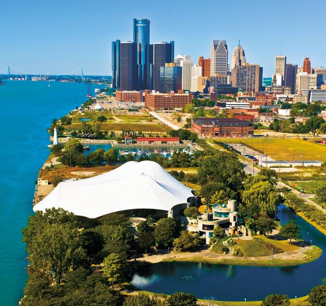 Detroit Riverfront. Photo by Vito Palmisano