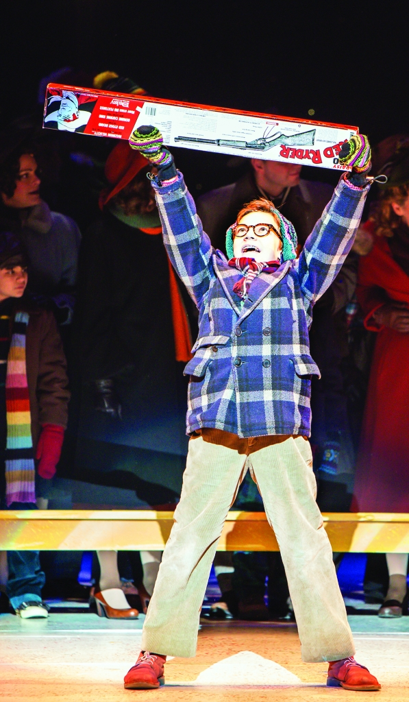 Jake Goodman as Ralphie in A Christmas Story, the Musical. Photo by Christian Brown