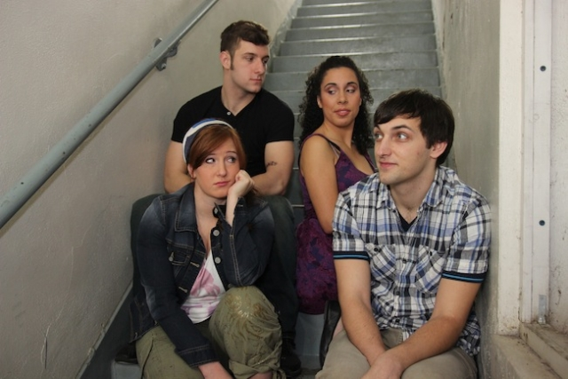 The cast of Calvin Berger: Kecia Beth Rehkamp, Logan Greene, Emily Madigan and Gregory Adam Photo courtesy of Hennepin Theatre Trust