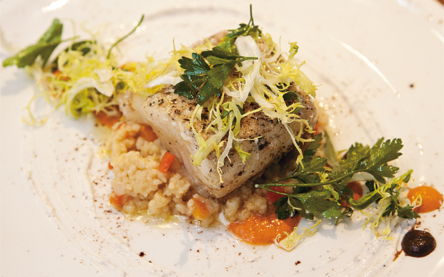 Slow Cooked Atlantic Cod with Tunisian Cous Cous