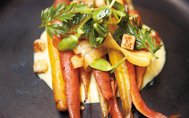 Fire Roasted Carrots. Photo by Hubert Bonnet