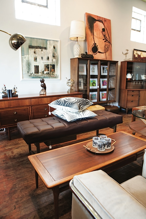 Refurbished vintage furniture. Photo by Hubert Bonnet