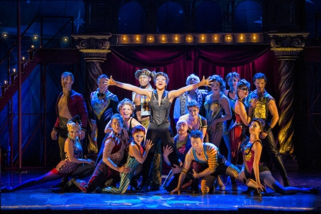 Sasha Allen (center) and the Cast of Pippin Photo by Terry Shapiro