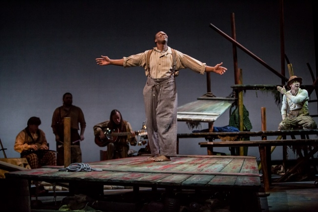 Ansa Akyea in Huck Finn. Photo by Dan Norman