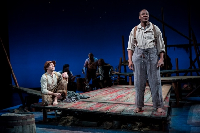 Dean Holt (left) Ansa Akyea in Huck Finn. Photo by Dan Norman