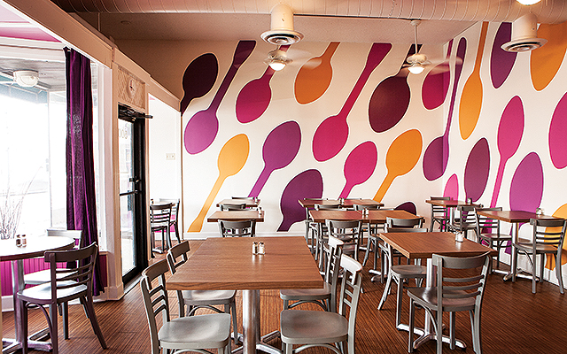 Sassy Spoon Dining Area. Photo by Hubert Bonnet