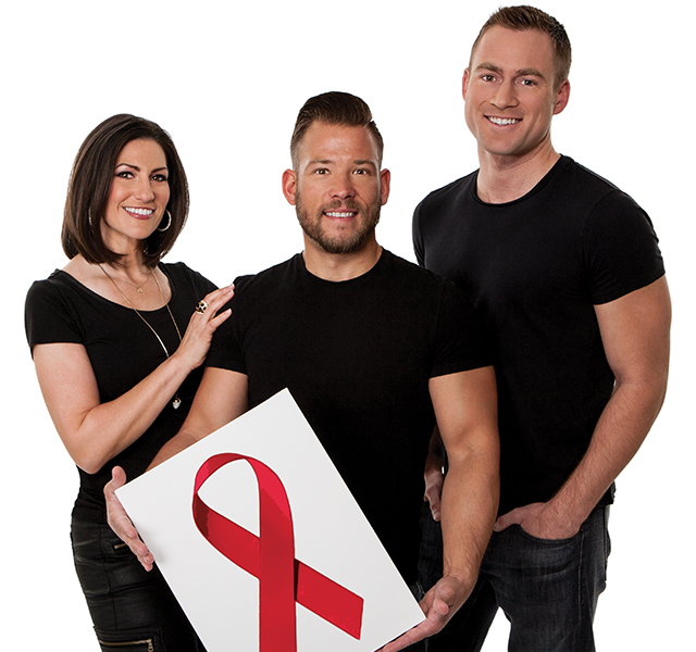 """Blake McCoy, Sven Sundgaard, and Rena Sarigianopoulos want you to """"Dine Out, Fight AIDS"""" at Dining Out for Life for The Aliveness Project. Photo by Mike Hnida"""