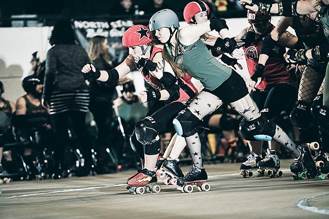 North Star Roller Girls. Photo by Wijadi Jodi