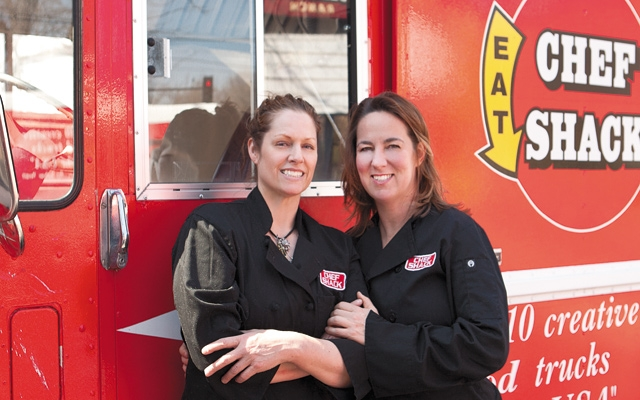 Carrie Summer and Lisa Carlson of Chef Shack. Photo by Mike Hnida