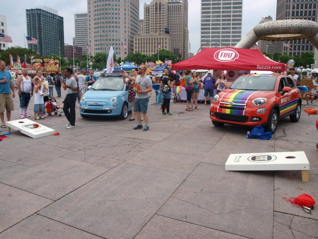 The Fiat booth at the Motor City Pride Festival