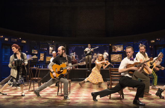 The cast of Once Photo by Joan Marcus