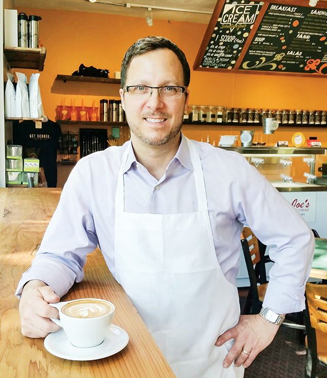 Jeffrey Fisher of Fireroast Café. Photo by Sam Hagen