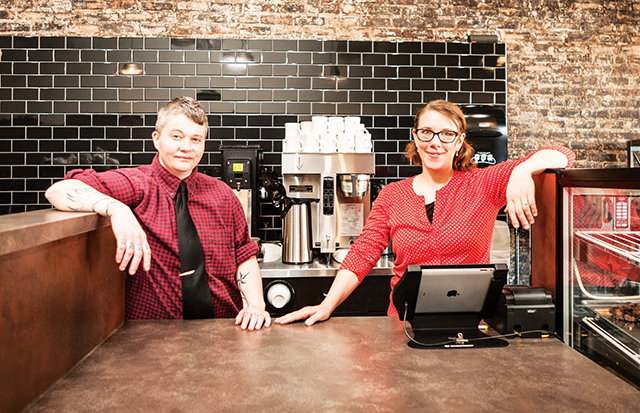Ty Barnett & Shannon Forney of Workhorse Coffee Bar. Photo by Pavlica Photography