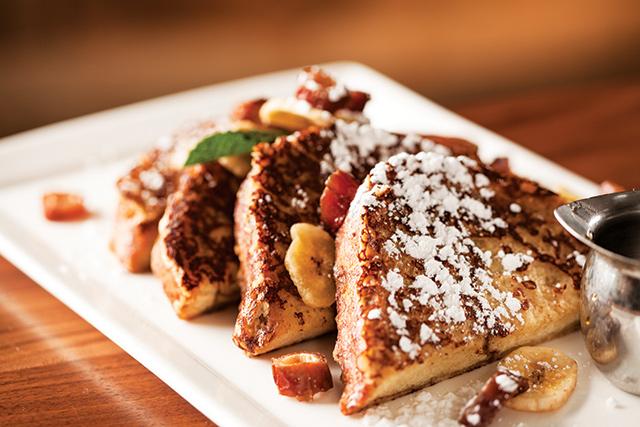 The Beacon Public House's cinnamon banana French toast breakfast. Photo courtesy of The Commons Hotel