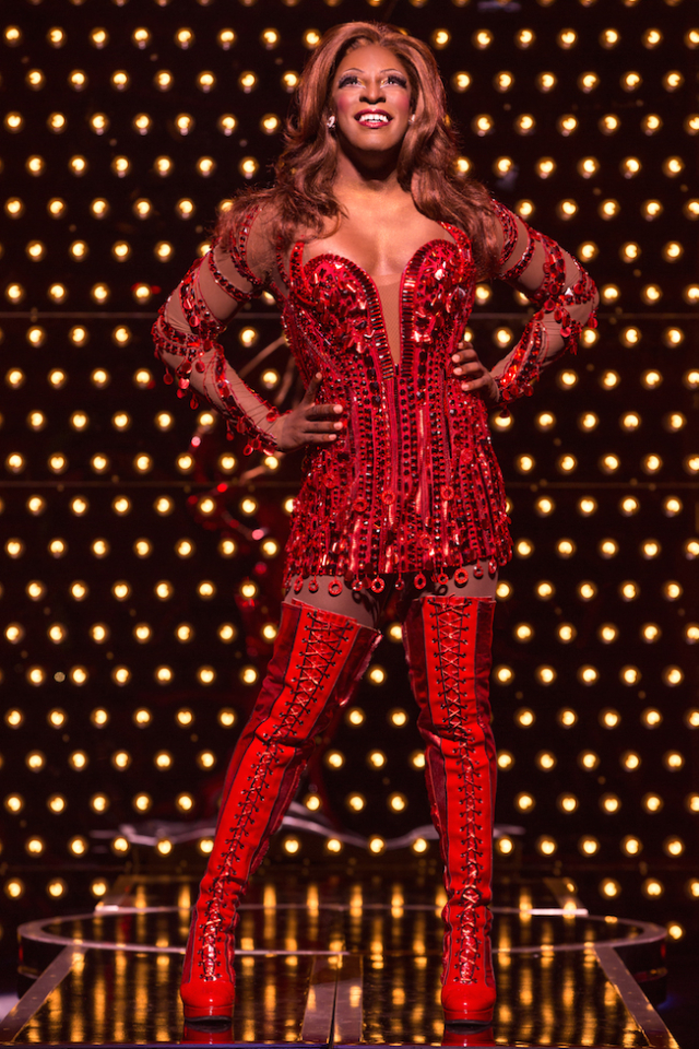 Kyle Taylor Parker as Lola in Kinky Boots Photo by Matthew Murphy