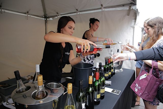 Next Chapter Winery pouring wine at this past year's Summer Wine Festival & Market. Photo courtesy of the Minnesota Grape Growers Association