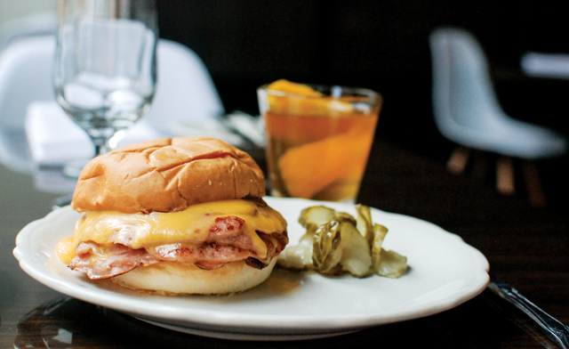 The best Bologna Sandwich ever with Summer Bourbon. Photo by Joy Summers