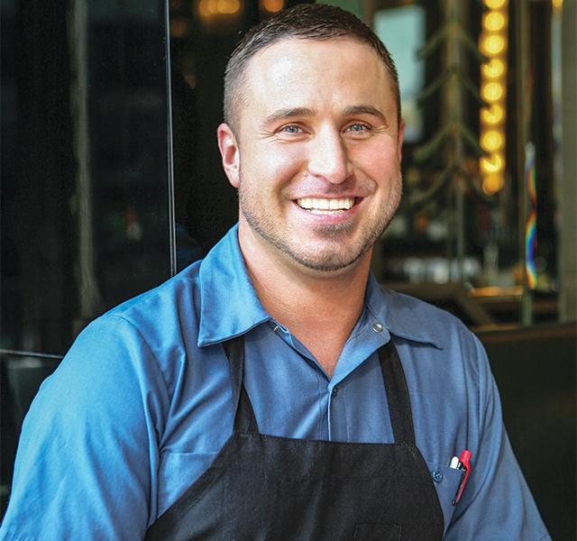 Chef Joe Rolle rocks Il Foro. Photo by Mike Hnida