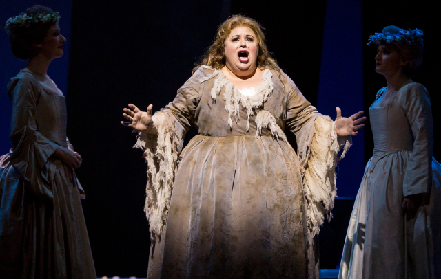 Amber Wagner sings the title role of Ariadne. Photo by Dan Norman.