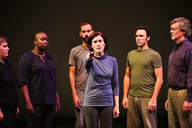 L-R: Allison Witham, Joy Dolo, Alex Hathaway, Heather Bunch, Derek Lee Miller, Eric Marinus. Photo by Lauren B Photography.