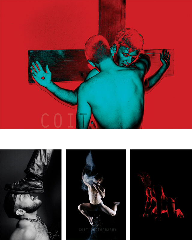 (Clockwise) On The Cross; Pup Tank; Dancer; Boy/Sir; Reflective Muse. Photography by Ryan Coit