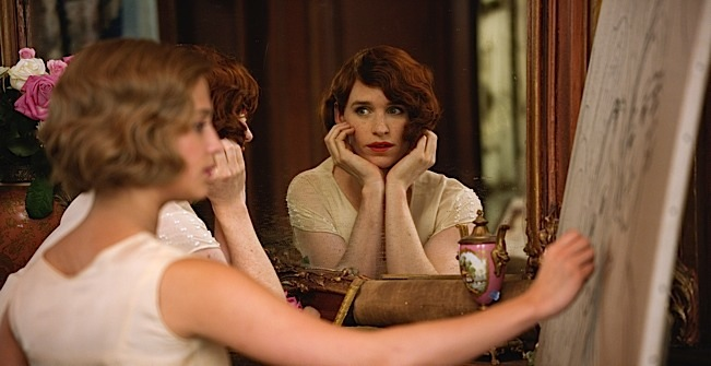 Eddie Redmayne stars as Lili Elbe, in Tom Hooper's THE DANISH GIRL, released by Focus Features. Photo courtesy of Focus Features.