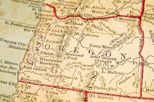 Oregon map web