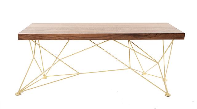 Bench by Elijah Neumann of NeuDesign, available at Omforme. Photo by Hubert Bonnet