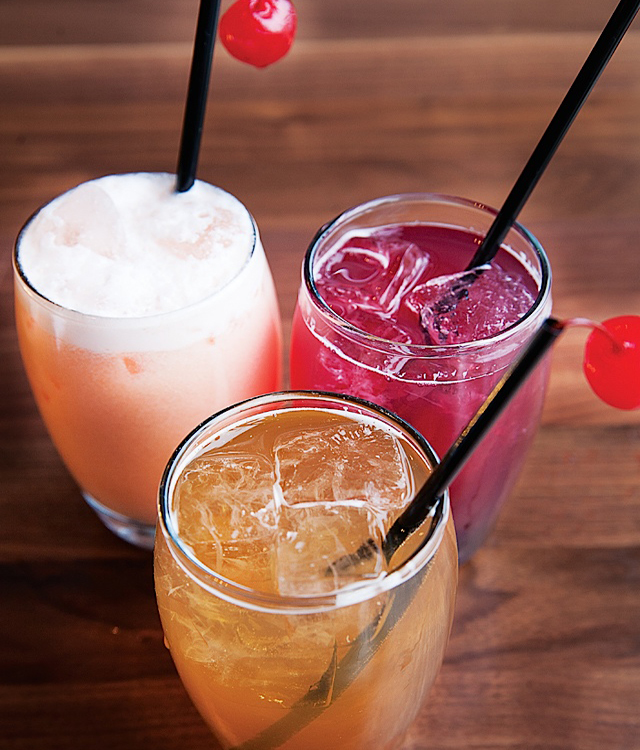 The non-alcoholic drinks.