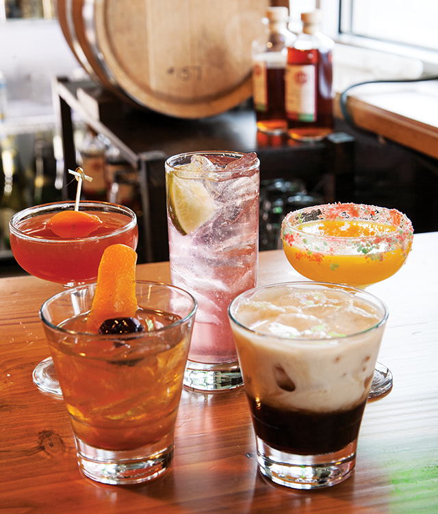 Craft drinks that delight from straight-from-the-barrel bourbon to mimosas made with always-fresh juice and Pop Rocks.