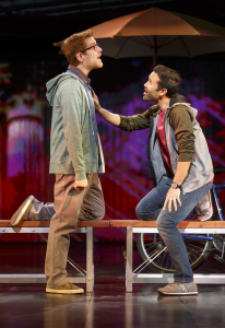 Anthony Rapp and Marc DeLaCruz in If/Then Photo by Joan Marcus