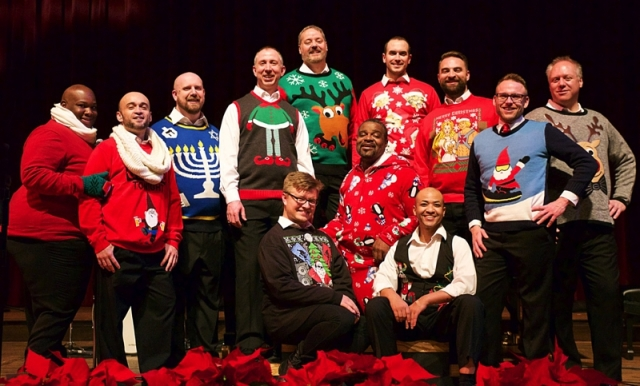 OutLoud! in their holiday finest.