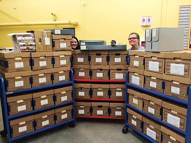 TC Pride Collection processed and ready for researchers. Photo by Lisa Vecoli