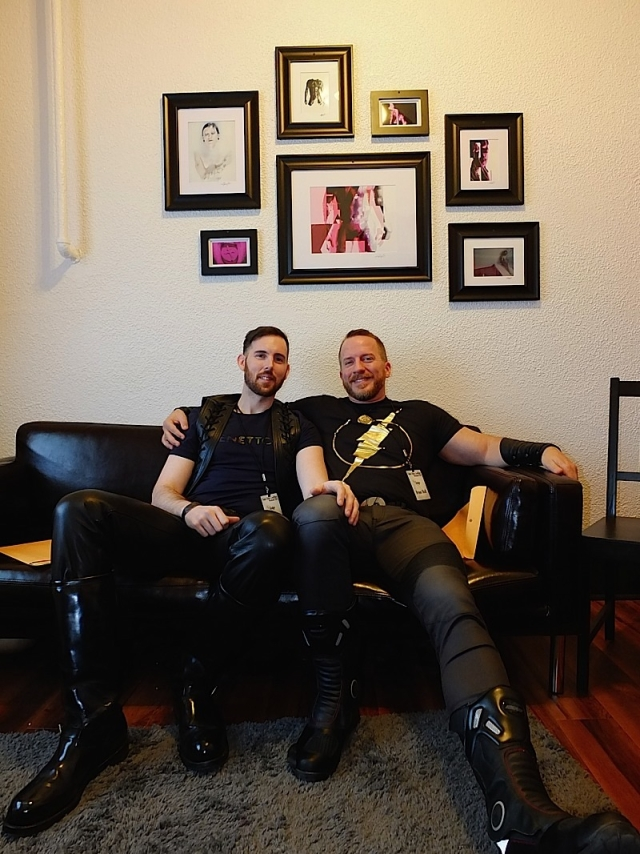Kevin Murphy (left) and Brian Donner (right) during their recent joint interview at The Saloon in Minneapolis. Photo by Steve Lenius.