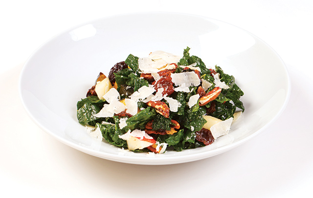 Kale salad from the main dining room aboard the Celebrity Summit. Photo courtesy of Celebrity Cruises