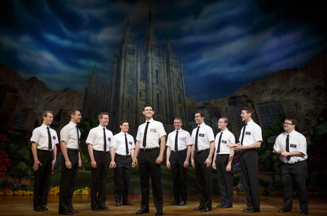 The Book of Mormon company. Photo by Joan Marcus