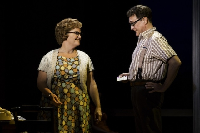 Mary Callanan (Marge) and David Hess (Charlie) Photo by Matthew Murphy
