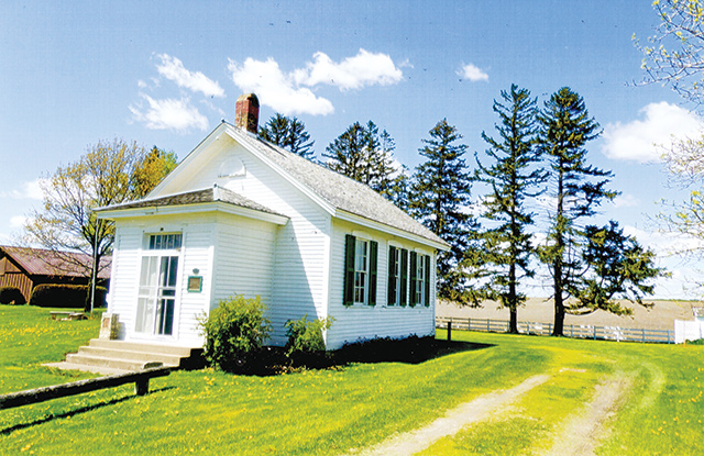 One-room schoolhouse attended by Grant Wood. Photos by Carla Waldemar