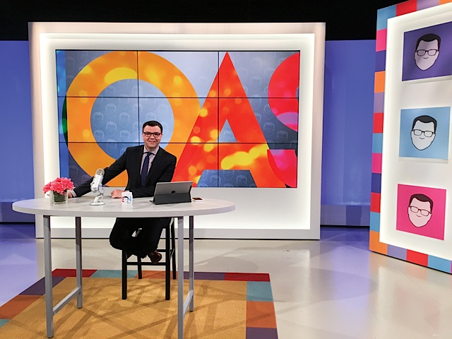 Minnesota's own Jason Matheson prepares for a national test-run of his daytime talk show, The Jason Show. Photo by Anthony Ongaro