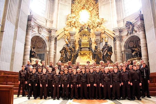 Inside St. Peter's Basilica at The Vatican, 2011. Photo courtesy of the Minnesota Boychoir